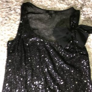 Jessica simpson glitter tank with bow